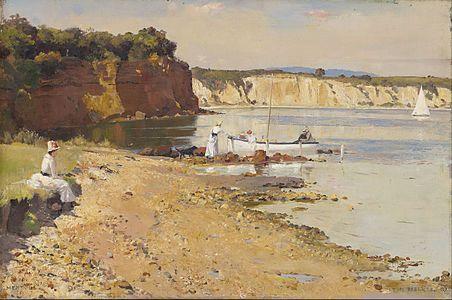 Tom Roberts, Slumbering Sea, Mentone, 1887