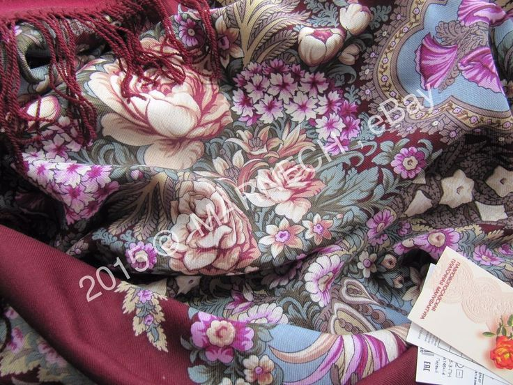 Huge Virgin Woolen Warm scarf Authentic Pavlovo Posad Shawl -Over a silver water #PavlovoPosad #ShawlWrap