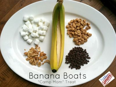 "Toddler Approved!: Banana Boats: ""Camp Mom"" Treat"