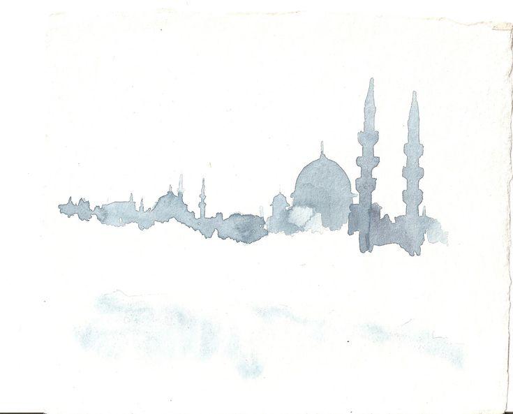 Istanbul skyline   by woodland doodlenymph