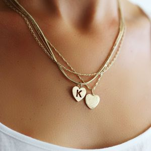 Personalised Multi Chain Heart Necklace