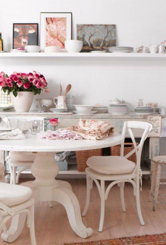 tavoli da pranzo ikea Sala da pranzo Shabby Chic Round sedia tavolo 3 idee di decorazione