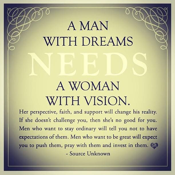 Men Women Quotes: Always Support The Dreams Of Your Husband So He Never