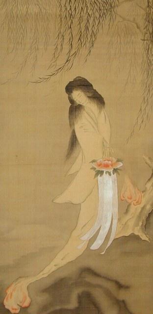 幽霊画 「怪談 牡丹燈籠」