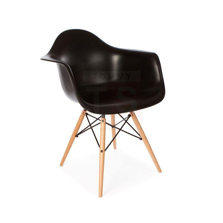 4 Pack - Replica Eames Eiffel DAW Dining Chair (Black)