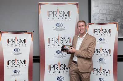 FleishmanHillard SA won the Award for top Large Public Relations Consultancy. Pictured here is Kevin Welman, Managing Director of FleishmanHillard SA