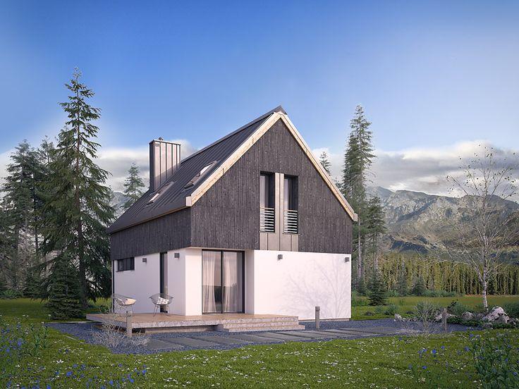 Projekt Groszek (80 m2) w wiosennej scenerii. Pełna prezentacja projektu dostępna jest na stronie: https://www.domywstylu.pl/projekt-domu-groszek.php. #groszek #projektydomow #domy #dom #projektygotowe #projekty #projekt #houses #home #house #housedesign #architektura #architecture #domywstylu #mtmstyl