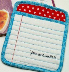 You Are So Hot Pot Holder. Follow this simple tutorial and learn how to make a cute pot holder. Makes a funny gift too. #sewing