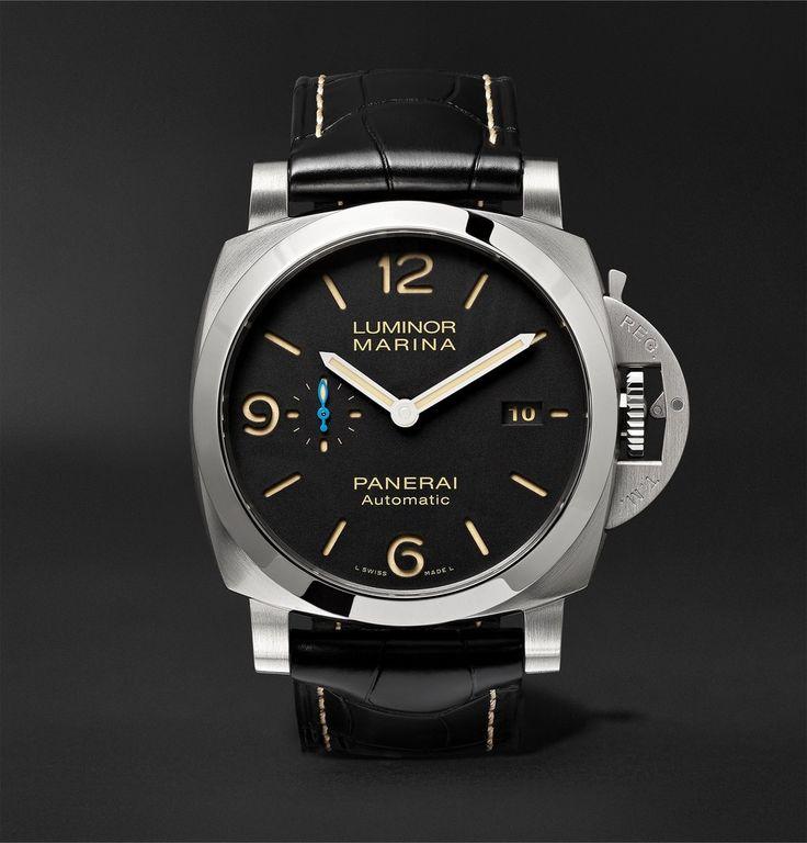 OFFICINE PANERAI Luminor Marina 1950 3 Days Acciaio 44mm Stainless Steel And Alligator Watch