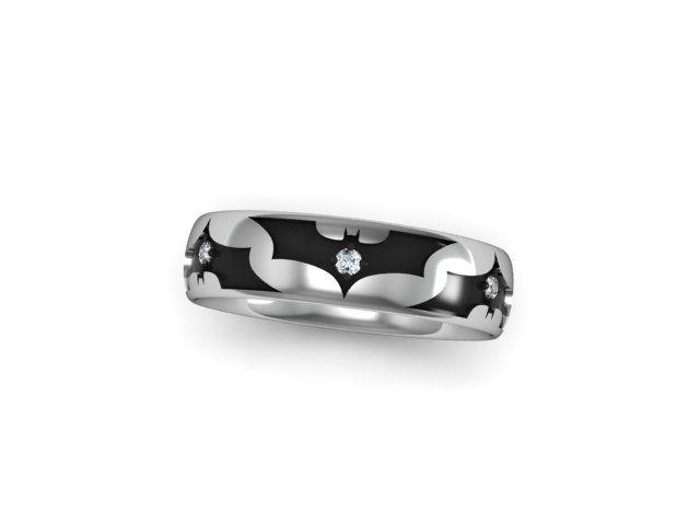 Custom Made Batman Wedding Ring
