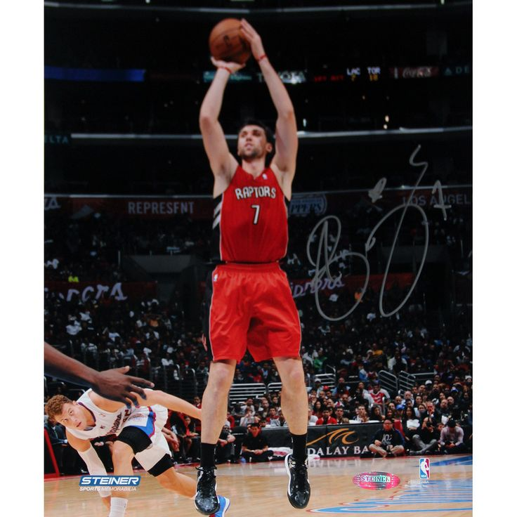 Andrea Bargnani Toronto Raptors Jump Shot Signed 8x10 Photo (Getty 158094072) - Andrea Bargnani was the first overall pick in the 2006 NBA Draft. The Italian native made an immediate impact and led the Raptors to the NBA Playoffs in each of his first two seasons. Bargnani isnt your typical big man. Despite being 7-feet tall he is an adept perimeter shooter with great quickness and ball-handling skills. Bargnani personally hand-signed this 8x10 photo of him taking a jump shot. It includes a…