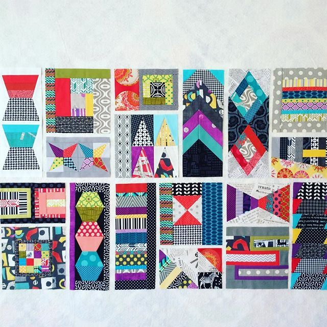 Had to see what my 18/75 blocks looked like and if I had to make any changes. I don't think so. I like what I see!  #patchworkcity #patchworkcityqal #patchworkcitybom #patchworkcityquilt #elizabethhartman #quilt #quilts #quilting #patchwork #patchworkquilt #patchworkquilts