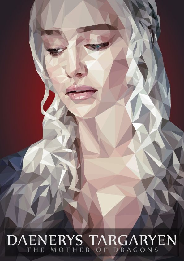 Daenerys Targaryen Low Poly on Behance