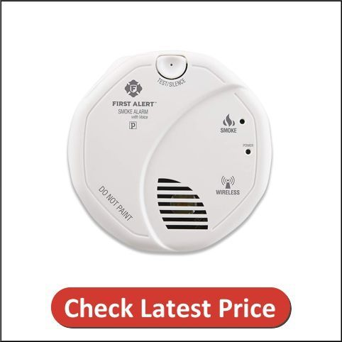 This Octagonal Shaped White Smoke Detector Comes In The Latest