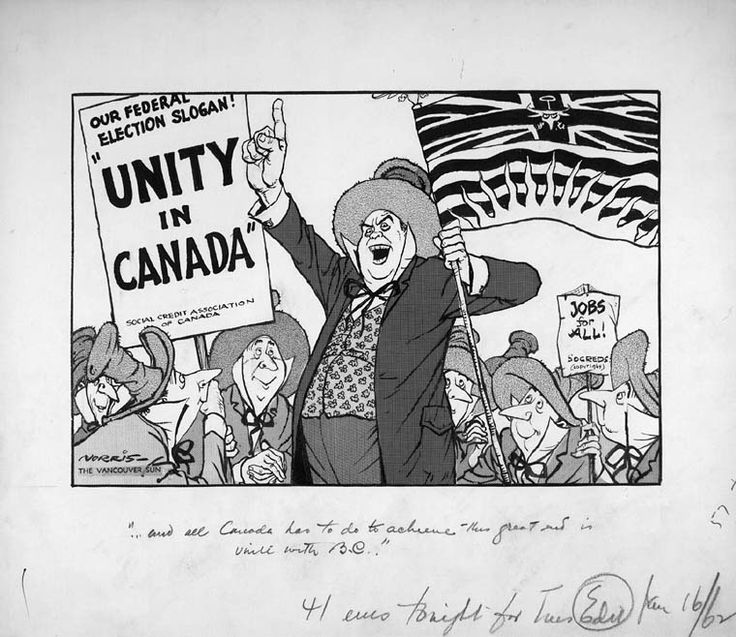 "MIKAN 2867051 ""...and all Canada has to do to achieve this great end is unite with B.C.!"". January 16, 1962 [111 KB, 760 X 658]"