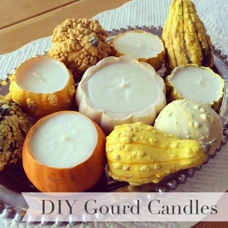 DIY Gourd Soy Candles