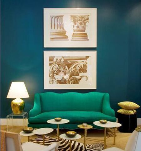 Love this wall color. Turquoise Accent Walls | House & Home
