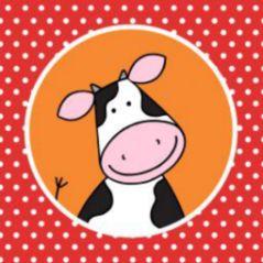 geboortekaartje vierluik boerderijdieren meisje 257 JippieJippie
