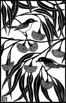Kate Hudson Melbourne printmaker Google Image Result for http://www.katehudsonprintmaker.com/Images/Two-Yellow-Robins_2.gif