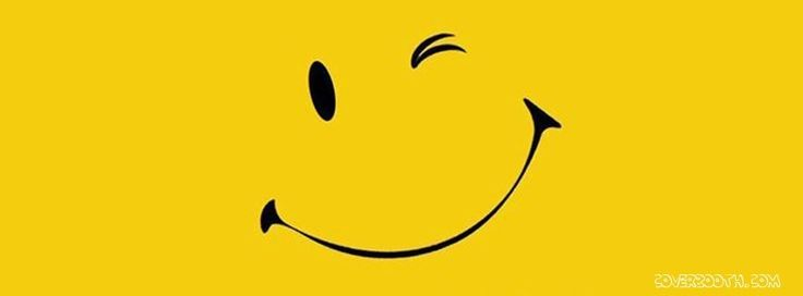Cool Pictures for Facebook Timeline | cute wink smile yellow background art cool facebook timeline covers