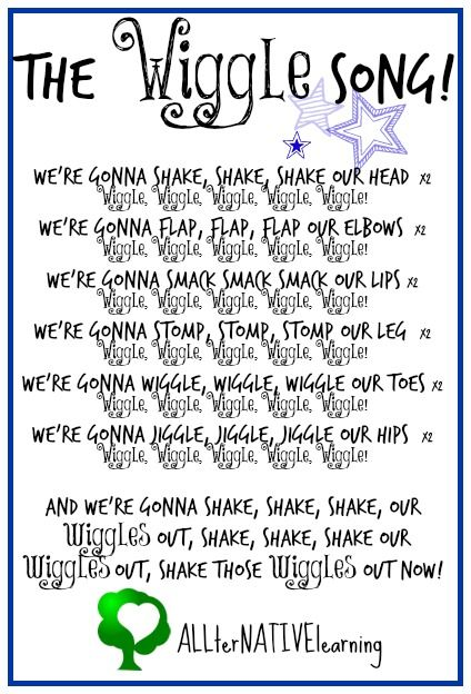 The Wiggle Song (new verses for Shake Your Sillies Out)