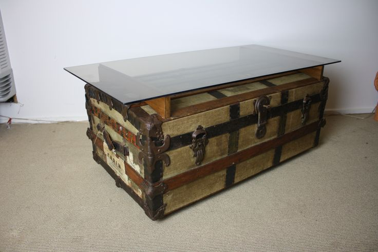 Our Favourite Steamer Trunk Coffee Table So Far Made From A 100 Year Old Australian Made Trunk