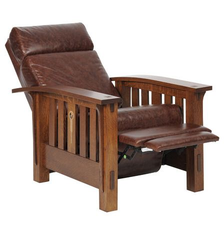 Craftsman Morris Recliner CRW-1603, Mission Sofas and Morris Chairs, Tree Crowns Furniture, Mission Furniture