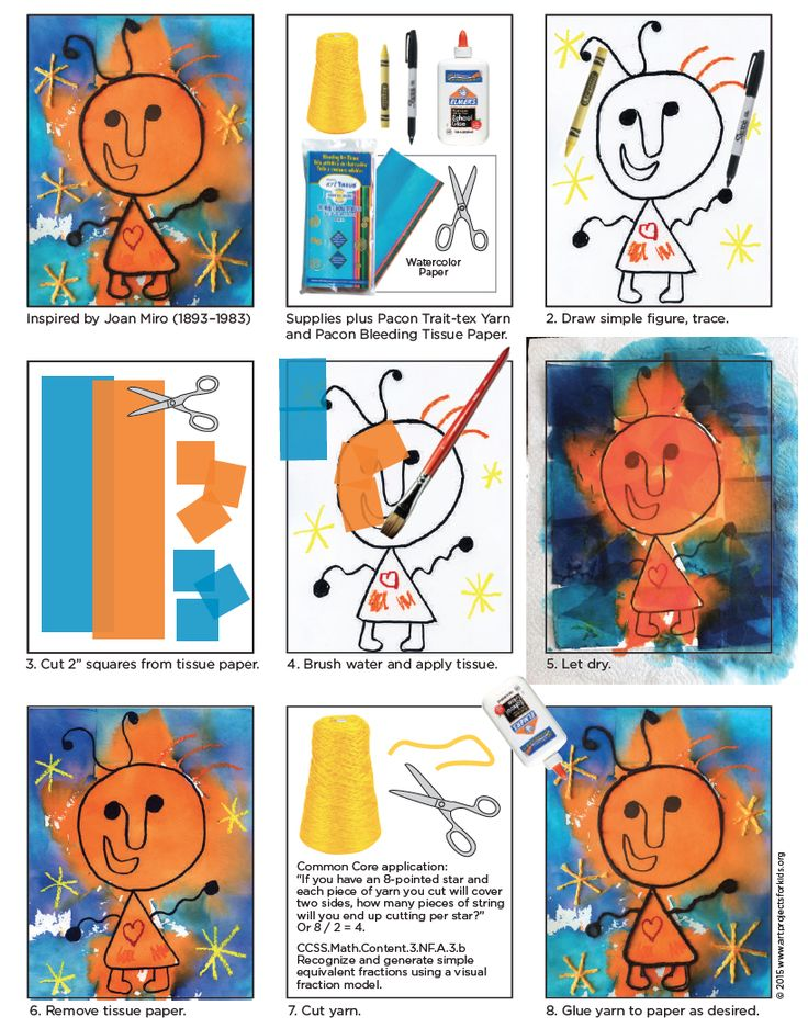 Joan Miro was a Spanish painter who loved to use child like shapes in his art. Here's a tutorial on how to make your own Surrealist masterpiece. Art Projects for Kids. #miro #surrealism #artprojectsforkids