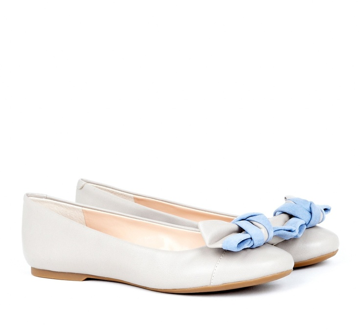 "callie bow flat - perfect flats with a touch of ""something blue"""