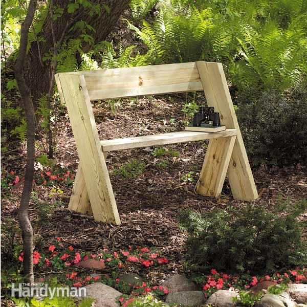 One Day Backyard Projects • Ideas & Tutorials! Including this simplest bench ever project from family handyman.