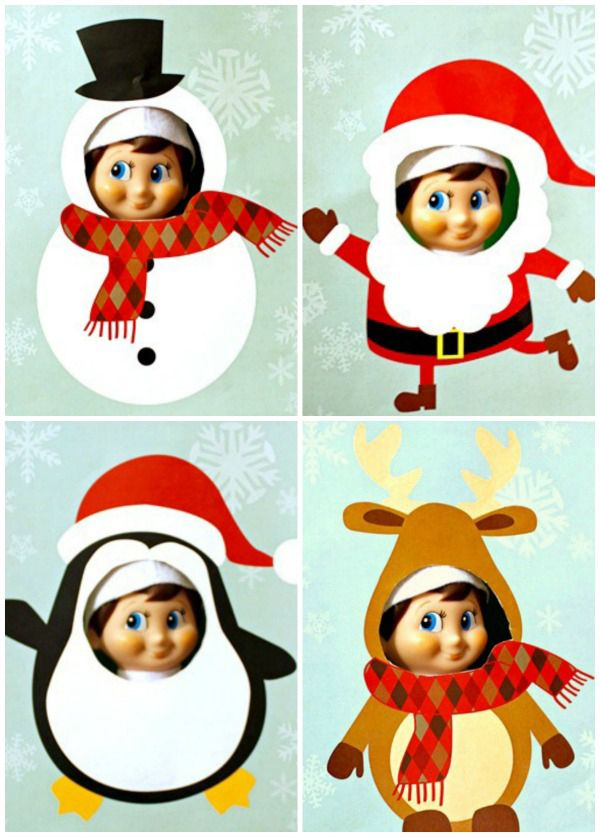 free elf on the shelf cutout printables christmas crafts for kids