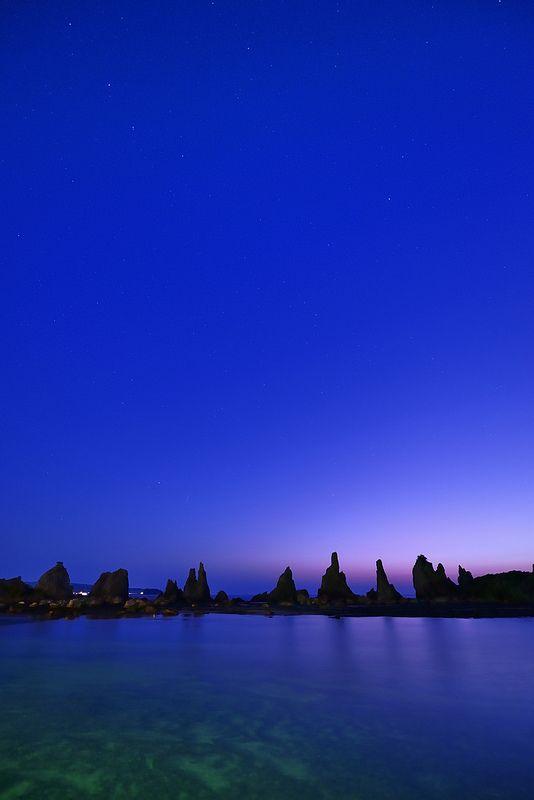 Dawn in Hashigui-iwa, Kushimoto, Wakayama, Japan