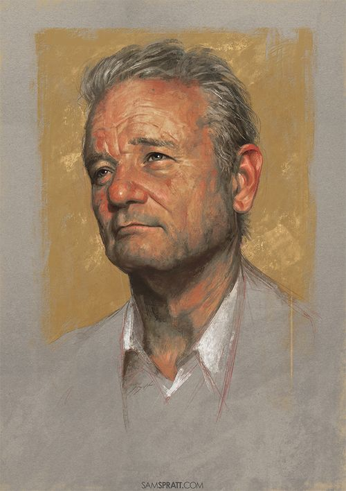 """""""Bill Murray"""" - Illustration by Sam Spratt"""