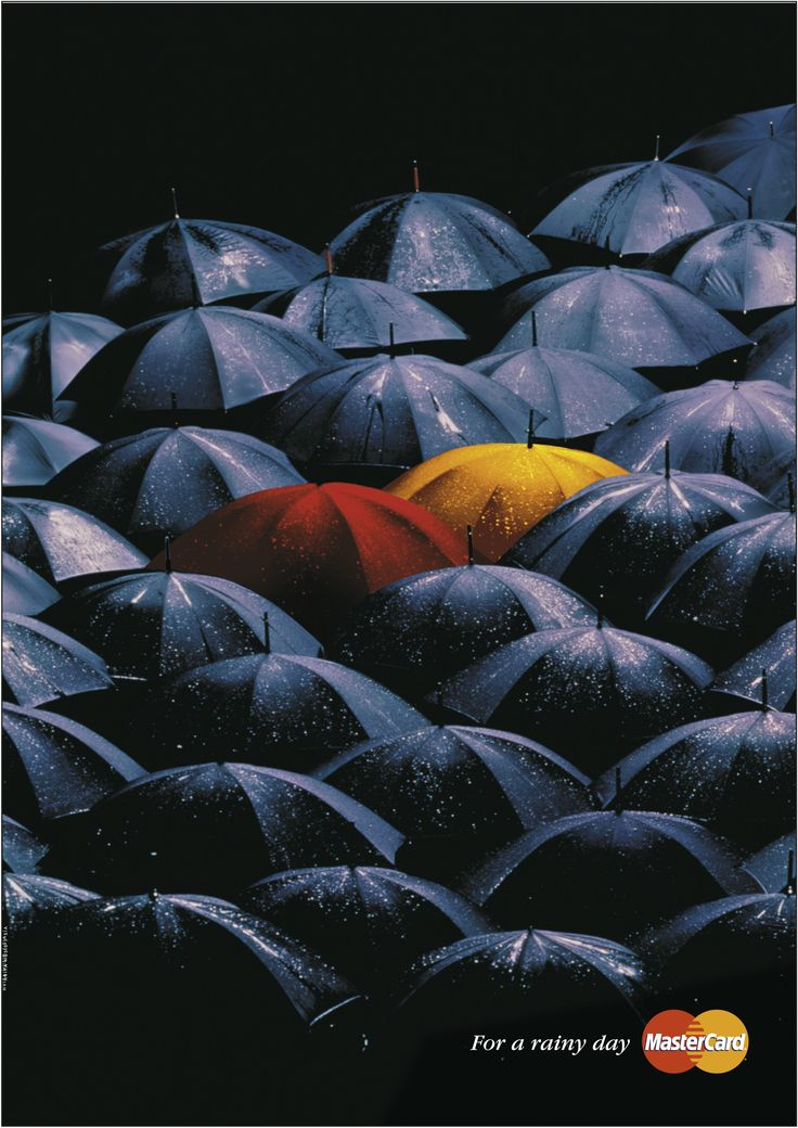 MasterCard - print ad. For a rainy day