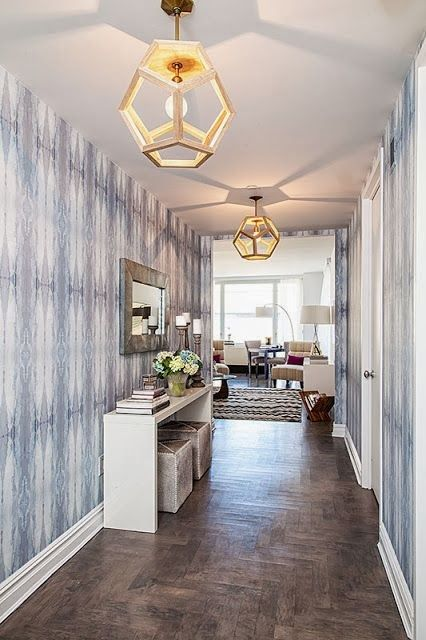 25 best parquet inlay images on pinterest porcelain for Entry hall wallpaper ideas