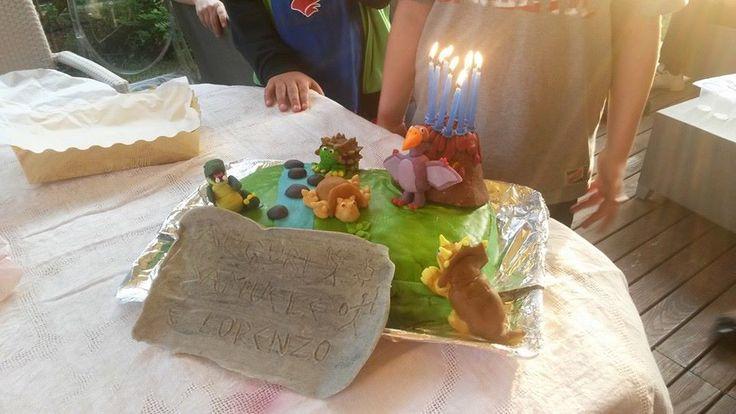 Torta ISOLA DEI DINOSAURI. Auguri Samuele!