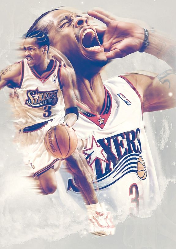 Allen Iverson 'Reverse Magazine' Art. One of my favorite basketball players of all time.