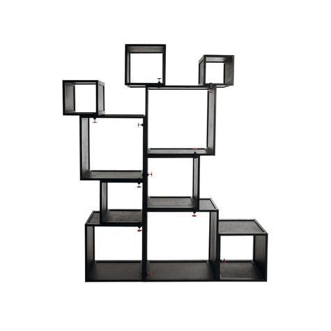 Стеллаж модульный Assemblage, 10 секций черный :: Seletti :: 14946