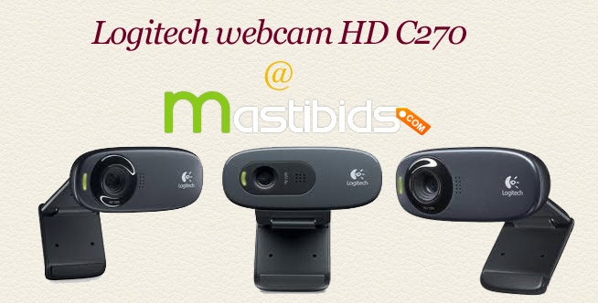 Indian #Online #Auctions and #Bidding Site Offers Logitech Webcam HD C270 at Mastibids    Bid and win your favorites #gadgets or brands at Mastibids. Mastbids, an Indian online auctions and bidding website offers astounding daily auctions where you can win elite products.    To get more, http://mastibids.com/blog/?p=1025