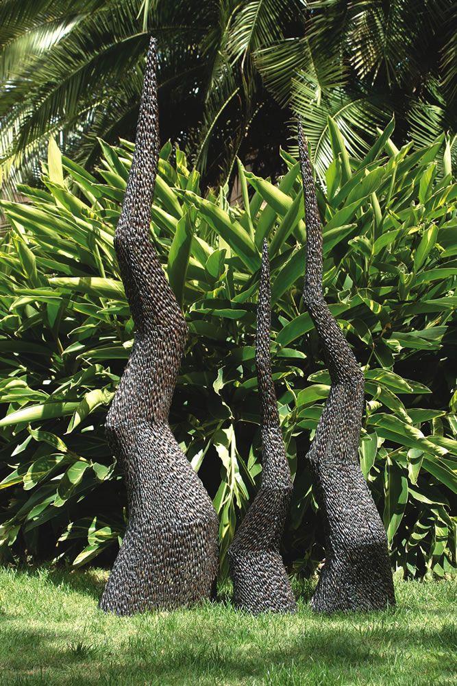Spire Metal Garden Sculpture Jardin D 233 Co Pinterest