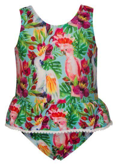 Dit leuke badpakje van het merk Snapper Rock bevat een speciale bescherming tegen UV straling. Draag UV beschermende badkleding altijd in combinatie met het insmeren van zonnebrandcrème en je kleintje kan goed beschermd van de zon genieten!