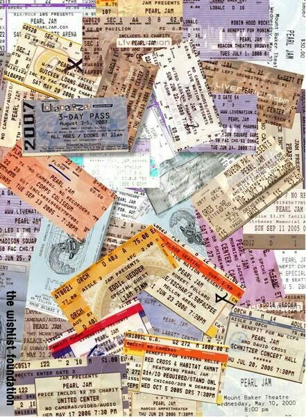 Pearl Jam tickets. Can't wait til December 6th to add another to my collection.