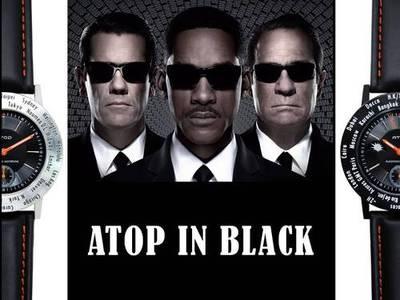 Cuma gecesi rengi: SİYAH!  Siyah giyen Atop'lar... www.AtopTimeZone.com #saat #atopsaatler #siyah
