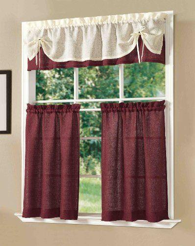 Yli tuhat ideaa: Kitchen Curtain Sets Pinterestissä   Verhot