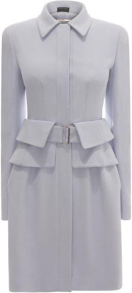 Alexander Mcqueen Utility Peplum Coat Dress - Lyst