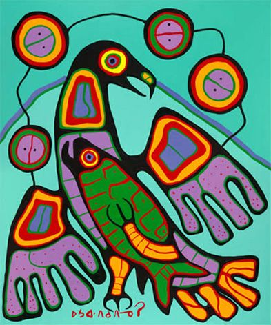 The Great Eagle by Norval Morrisseau