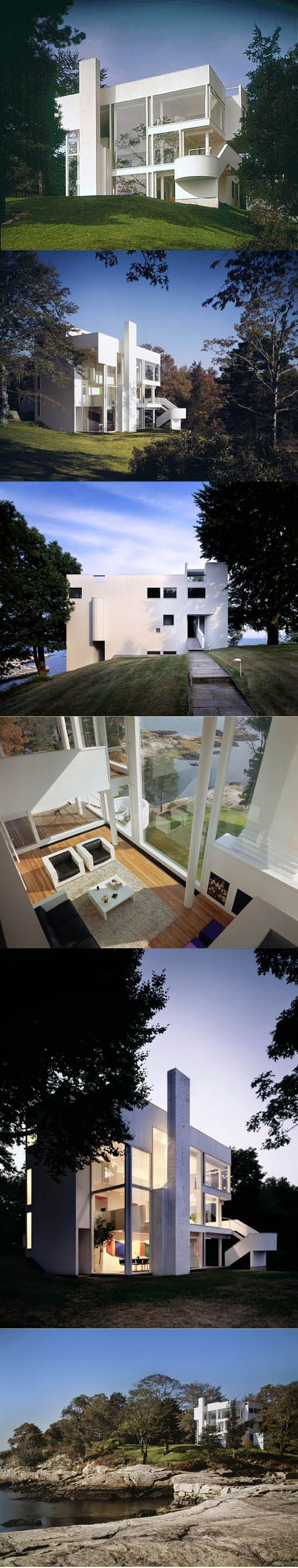 1965-1967 Richard Meier - Smith House / Darien Connecticut USA / wood glass / white