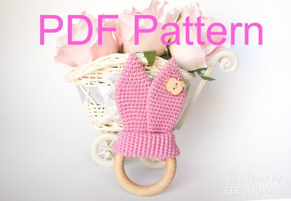 Crochet Bunny Ears / Pattern PDF / Teething Ring by ILoveAmigurumi