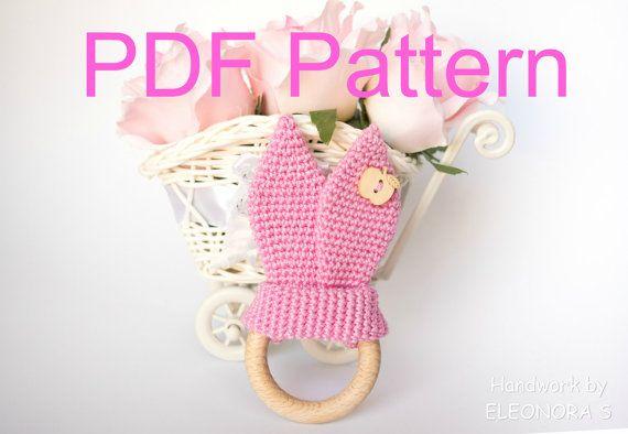 Crochet Bunny Ears / Pattern PDF / Teething Ring by ILoveAmigurumi