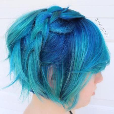 Layered Pastel Blue Bob